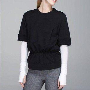 Lululemon Black Peplum Pullover Lined Top NWOT